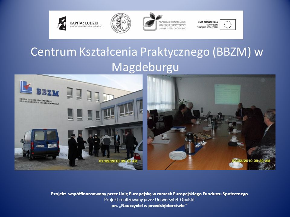 Centrum Kształcenia Praktycznego (BBZM) w Magdeburgu
