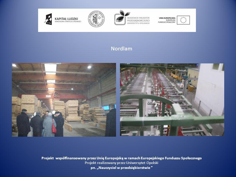 Nordlam Projekt współfinansowany przez Unię Europejską w ramach Europejskiego Funduszu Społecznego.