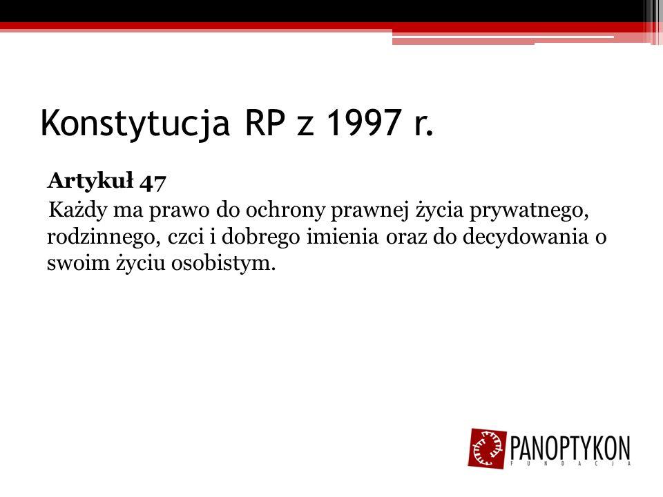 Konstytucja RP z 1997 r.