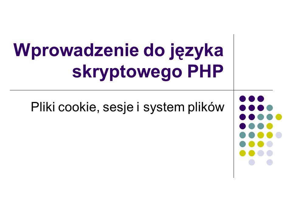 Wprowadzenie do języka skryptowego PHP