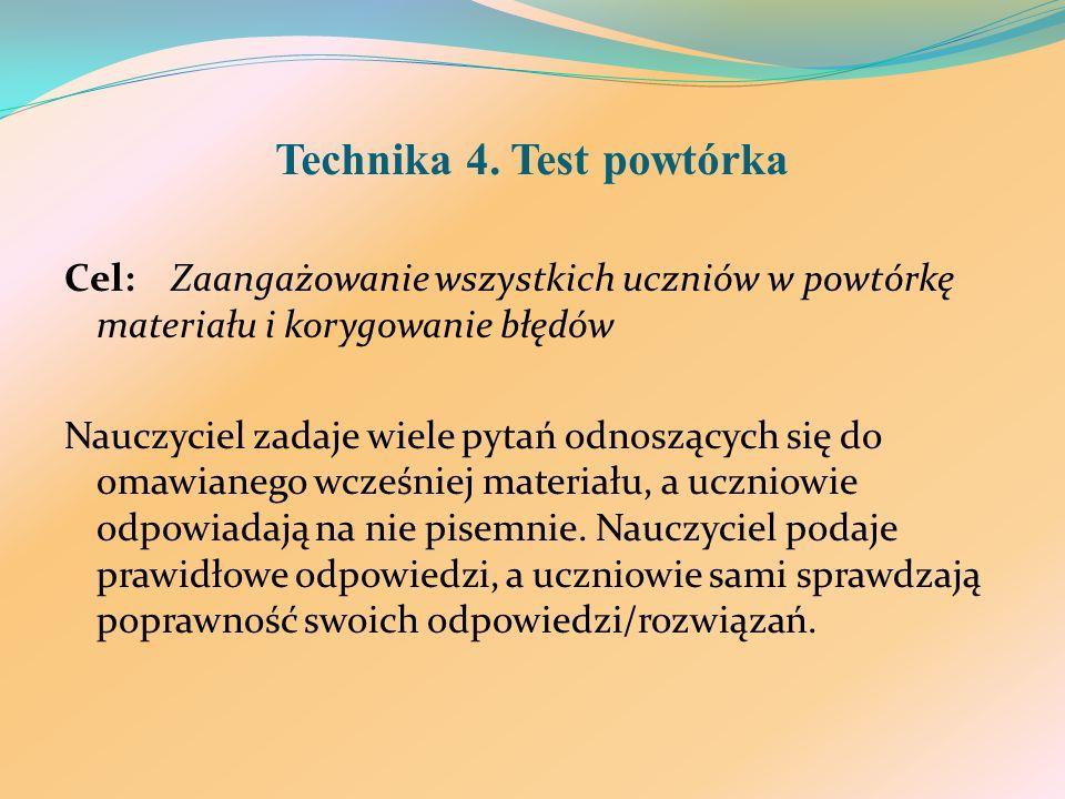 Technika 4. Test powtórka