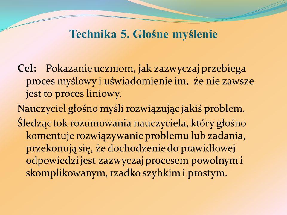 Technika 5. Głośne myślenie