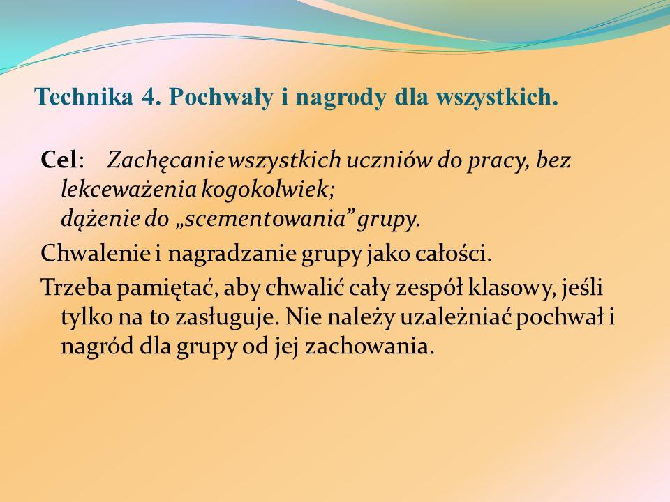 Technika 4. Pochwały i nagrody dla wszystkich.