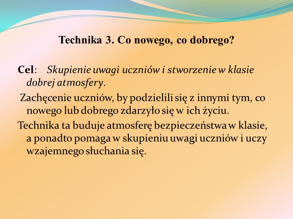 Technika 3. Co nowego, co dobrego