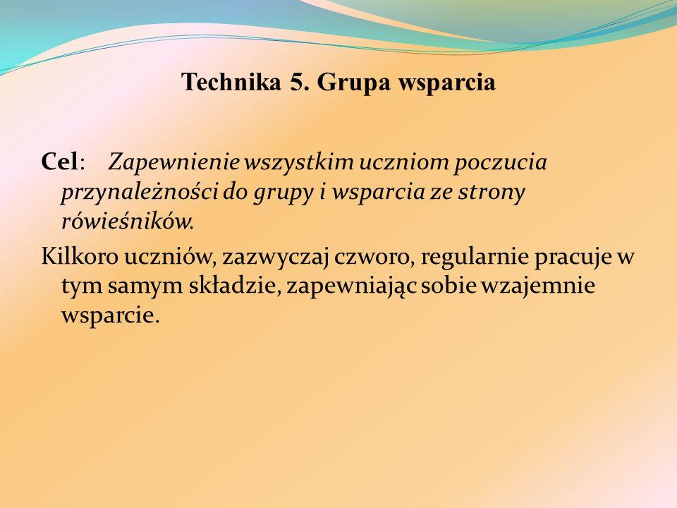 Technika 5. Grupa wsparcia
