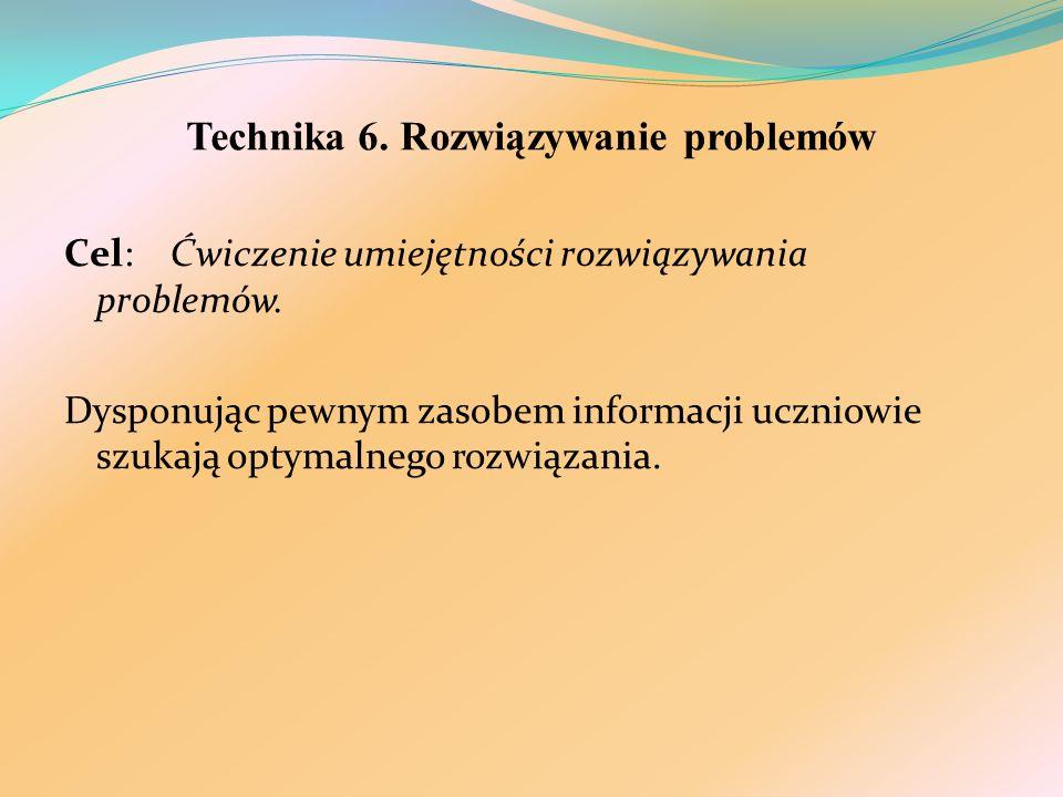 Technika 6. Rozwiązywanie problemów