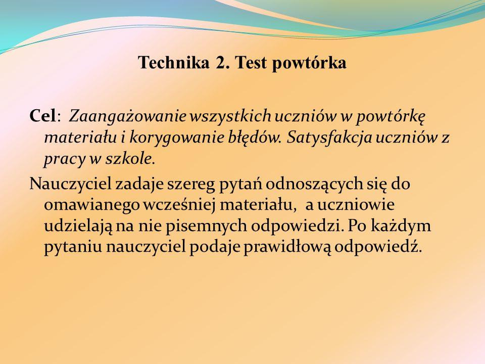 Technika 2. Test powtórka