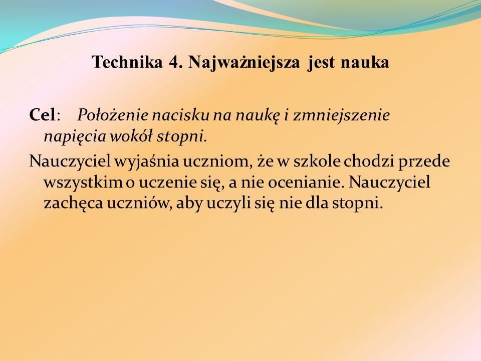 Technika 4. Najważniejsza jest nauka