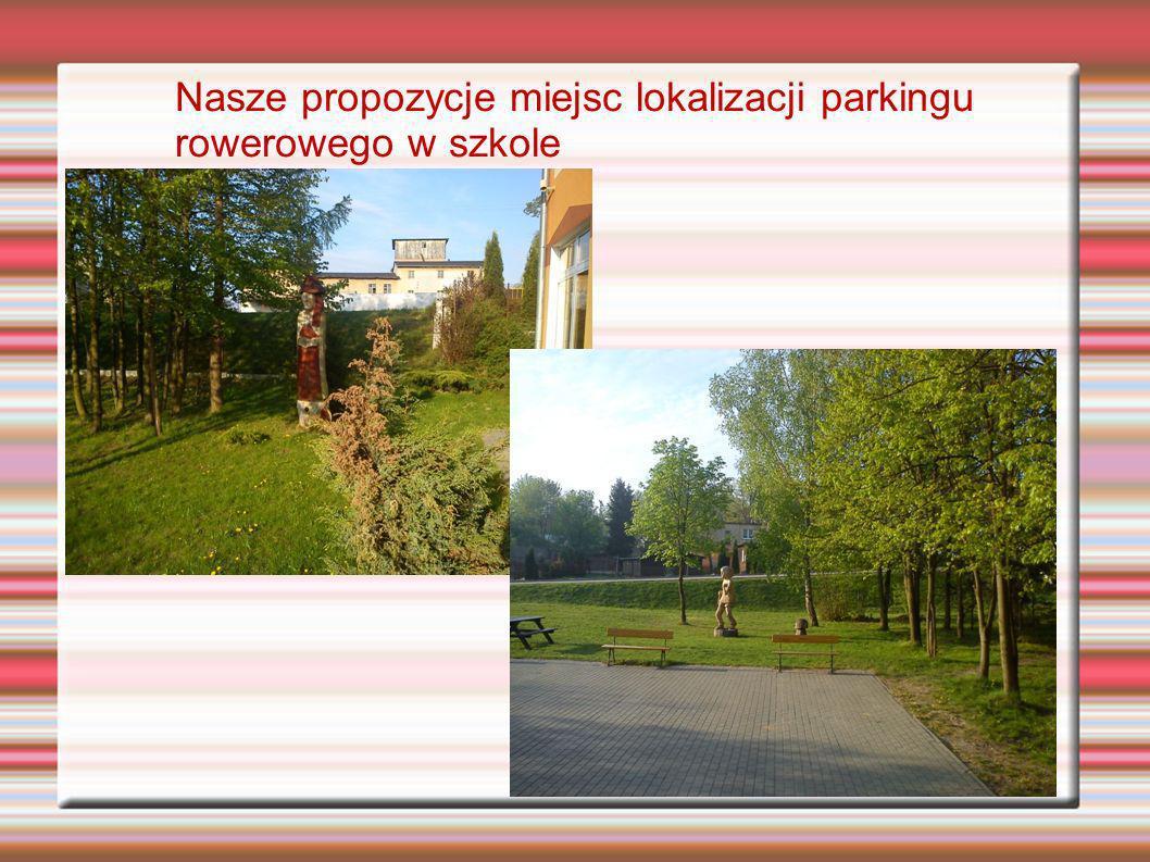 Nasze propozycje miejsc lokalizacji parkingu rowerowego w szkole
