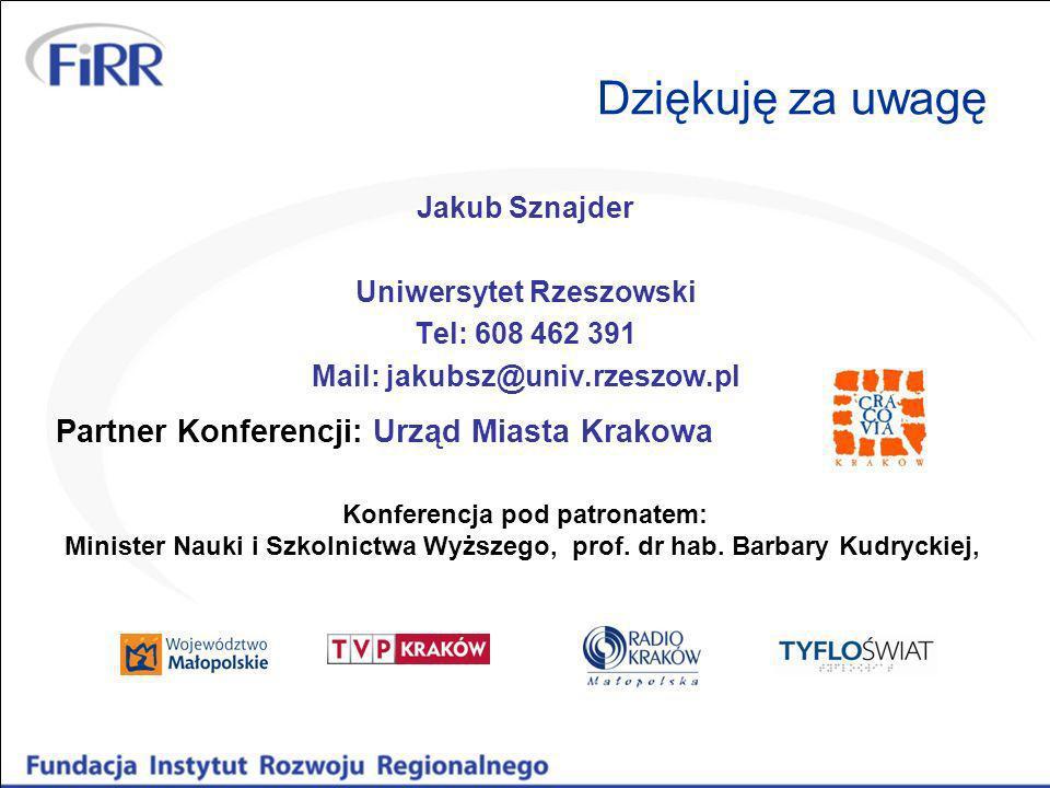 Uniwersytet Rzeszowski Mail: jakubsz@univ.rzeszow.pl
