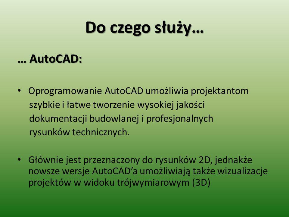 Do czego służy… … AutoCAD: