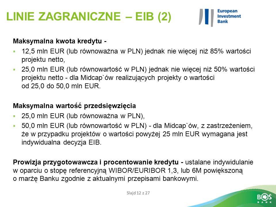 LINIE ZAGRANICZNE – EIB (2)