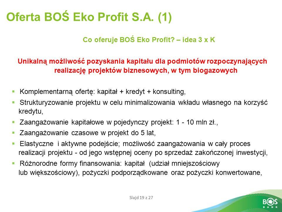 Oferta BOŚ Eko Profit S.A. (1)
