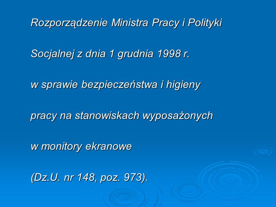 Rozporządzenie Ministra Pracy i Polityki