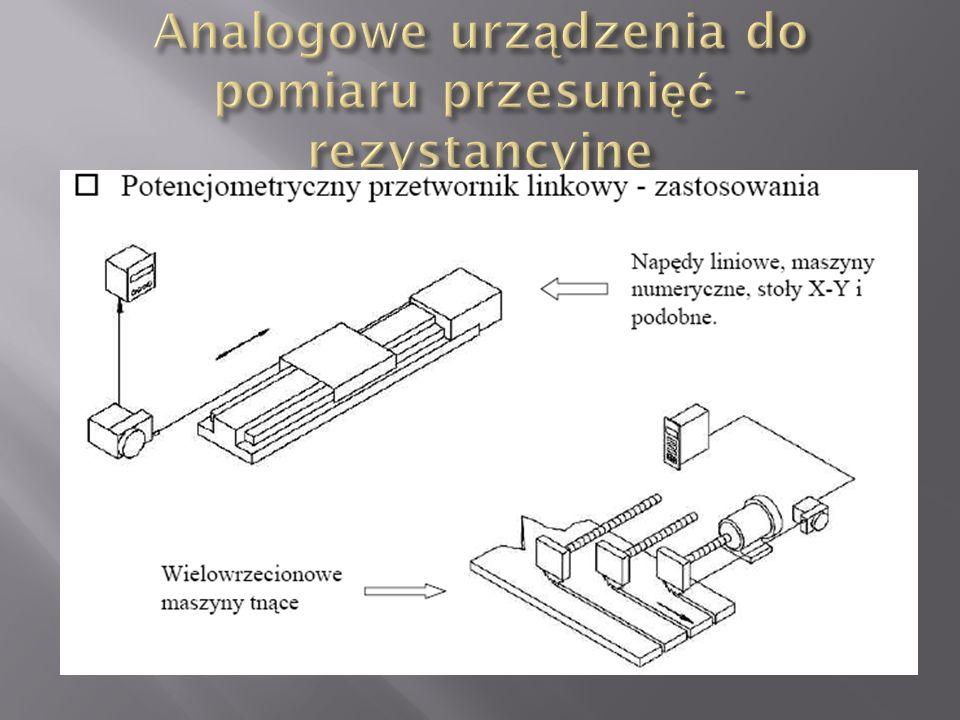 Analogowe urządzenia do pomiaru przesunięć - rezystancyjne