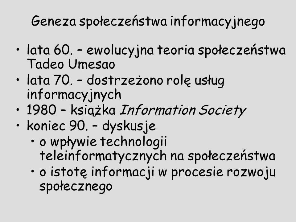 Geneza społeczeństwa informacyjnego