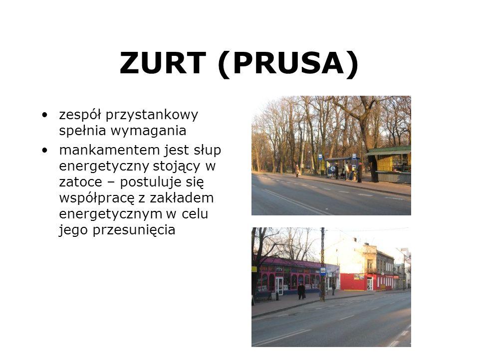 ZURT (PRUSA) zespół przystankowy spełnia wymagania