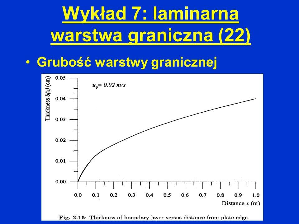 Wykład 7: laminarna warstwa graniczna (22)