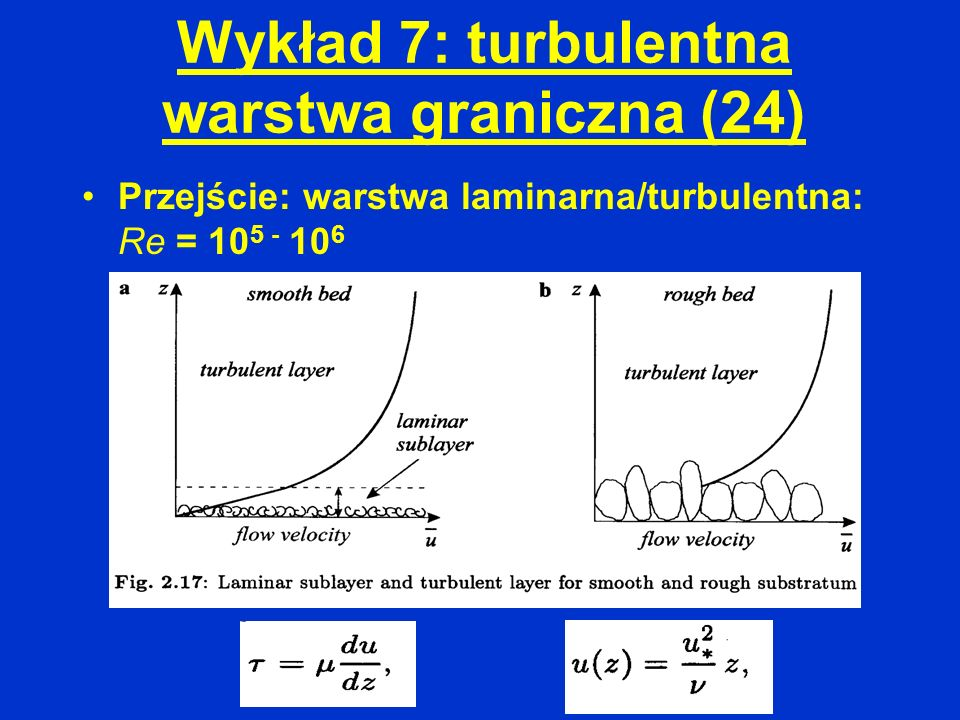 Wykład 7: turbulentna warstwa graniczna (24)