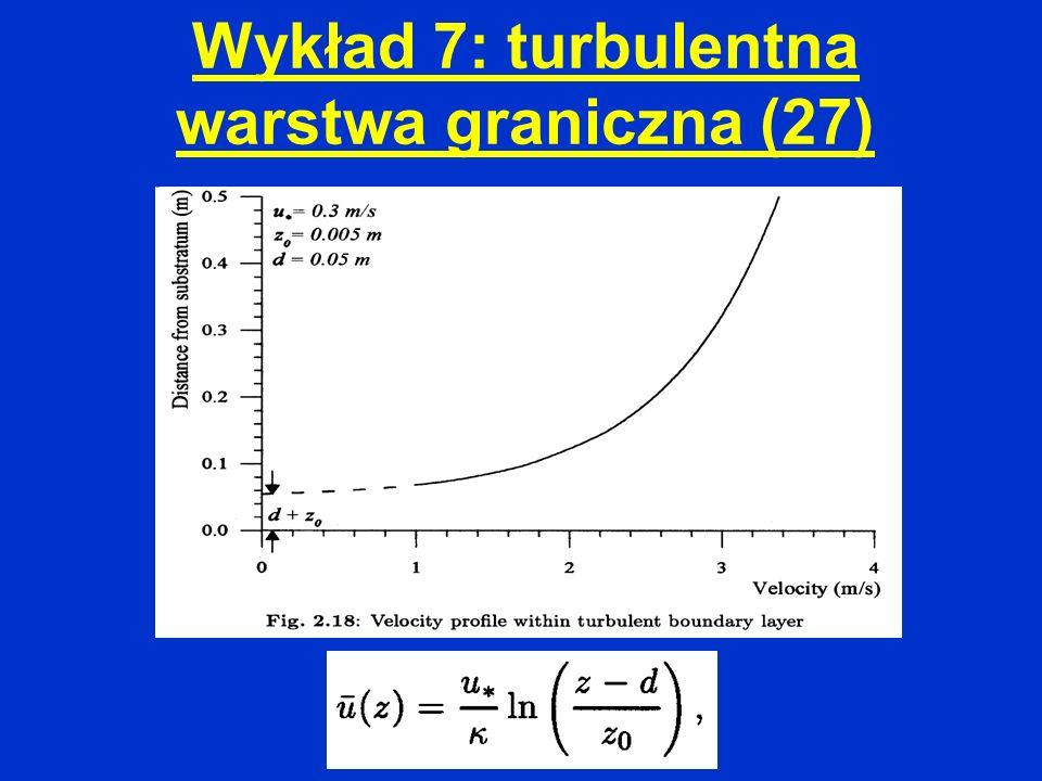 Wykład 7: turbulentna warstwa graniczna (27)