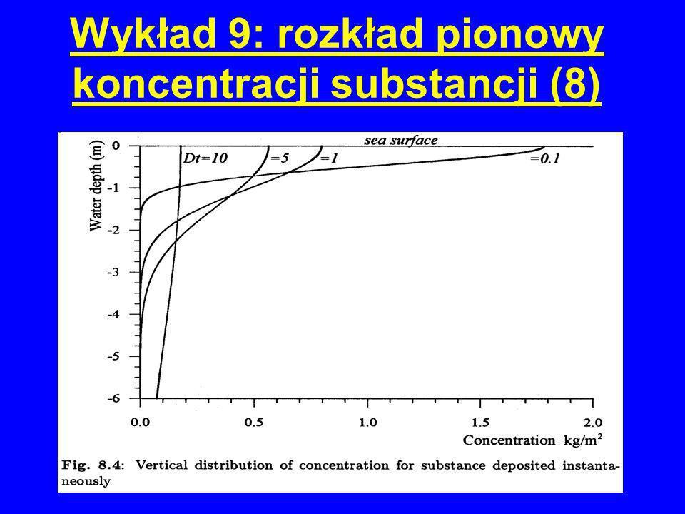 Wykład 9: rozkład pionowy koncentracji substancji (8)