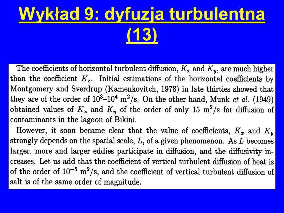 Wykład 9: dyfuzja turbulentna (13)