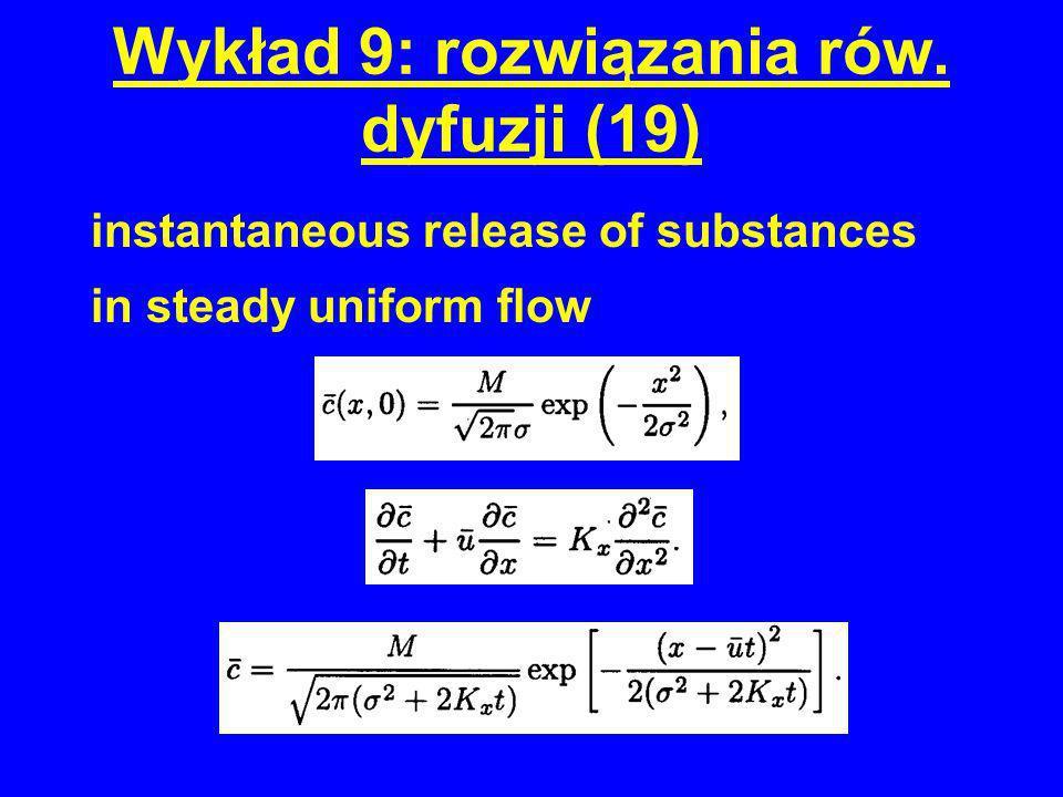 Wykład 9: rozwiązania rów. dyfuzji (19)