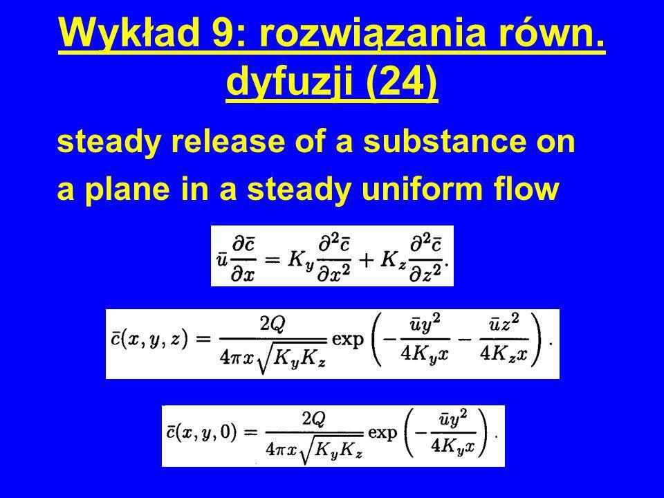 Wykład 9: rozwiązania równ. dyfuzji (24)