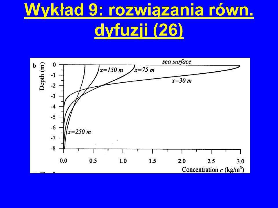 Wykład 9: rozwiązania równ. dyfuzji (26)