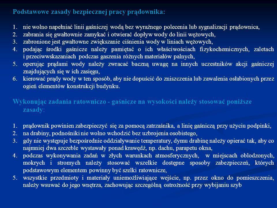 Podstawowe zasady bezpiecznej pracy prądownika: