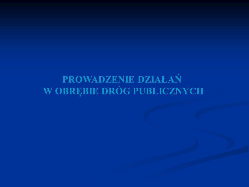 W OBRĘBIE DRÓG PUBLICZNYCH