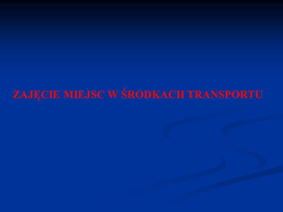 ZAJĘCIE MIEJSC W ŚRODKACH TRANSPORTU