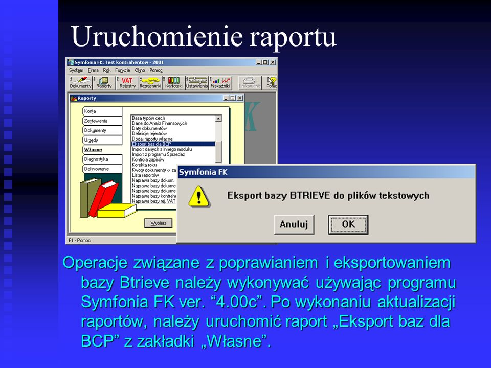 Uruchomienie raportu