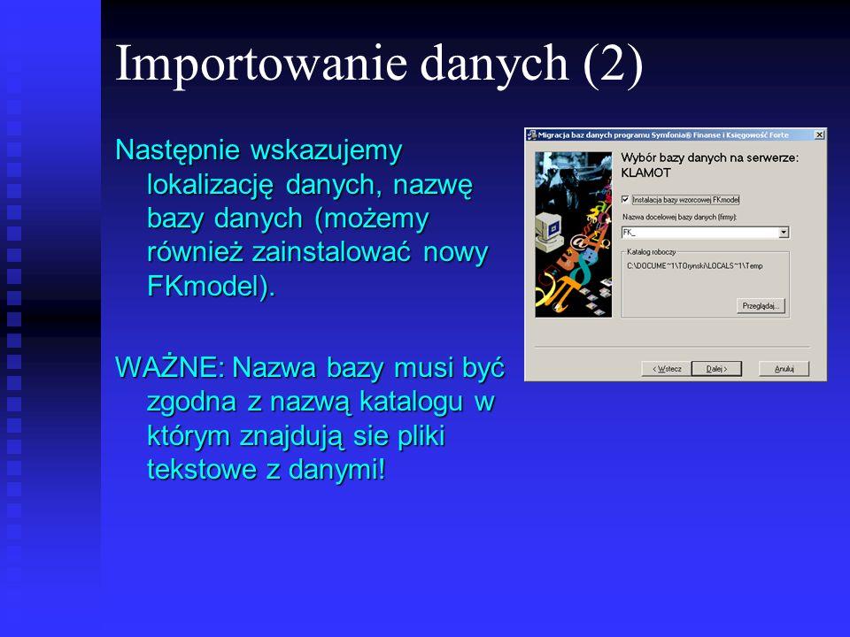 Importowanie danych (2)