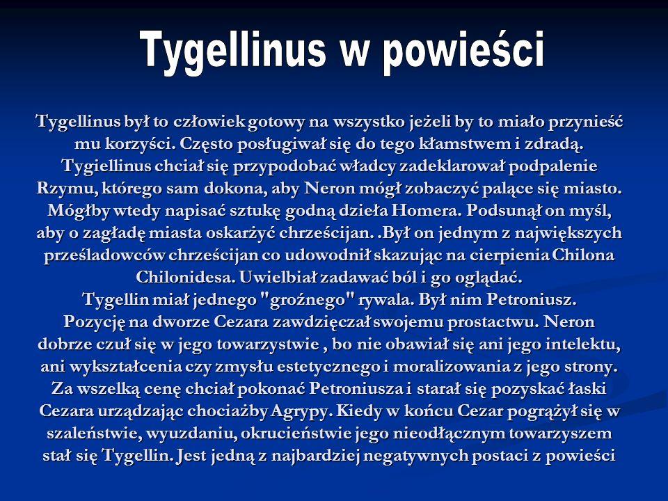 Tygellinus w powieści