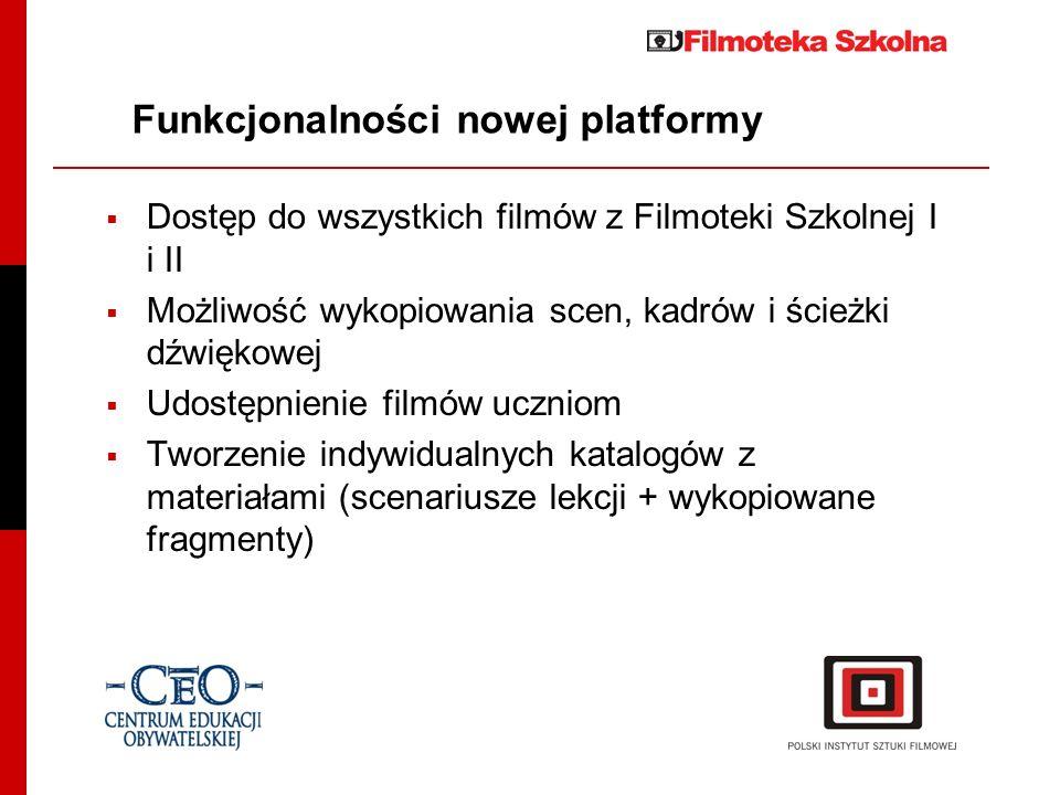 Funkcjonalności nowej platformy