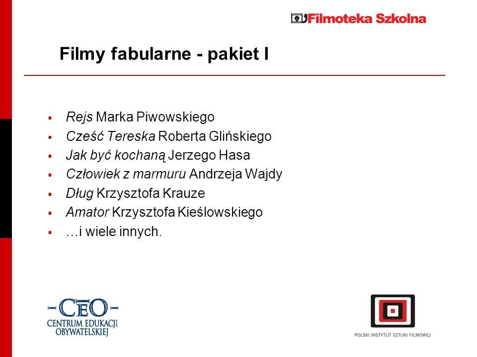 Filmy fabularne - pakiet I