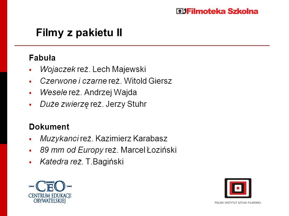 Filmy z pakietu II Fabuła Wojaczek reż. Lech Majewski