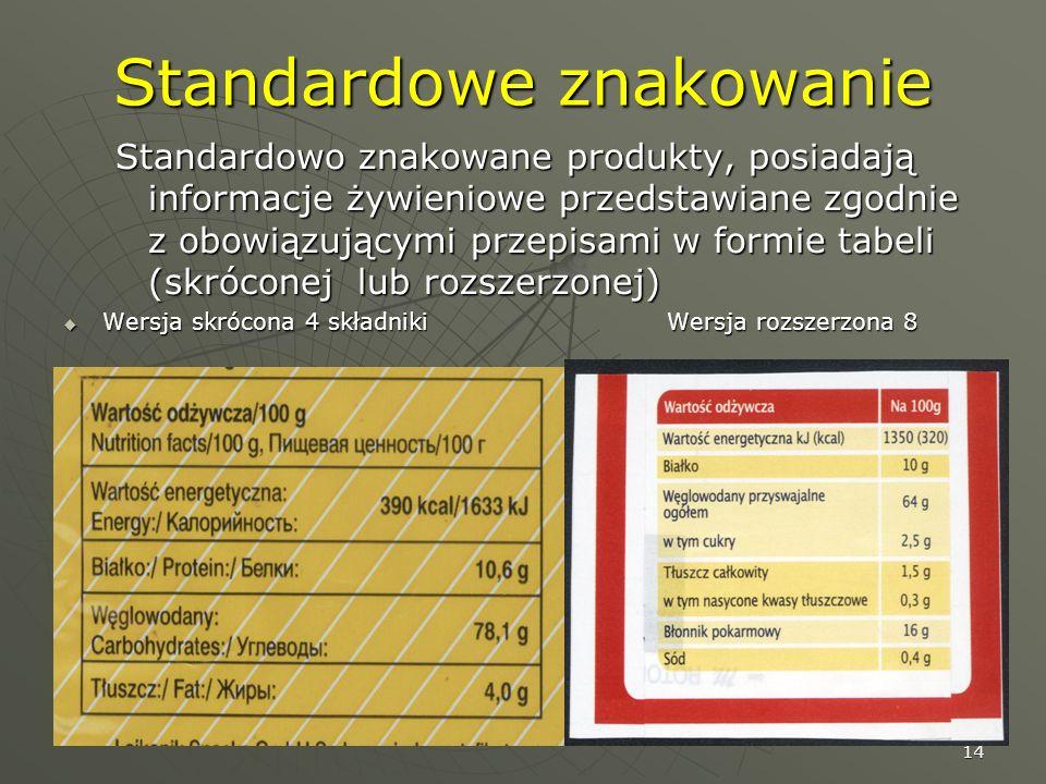 Standardowe znakowanie