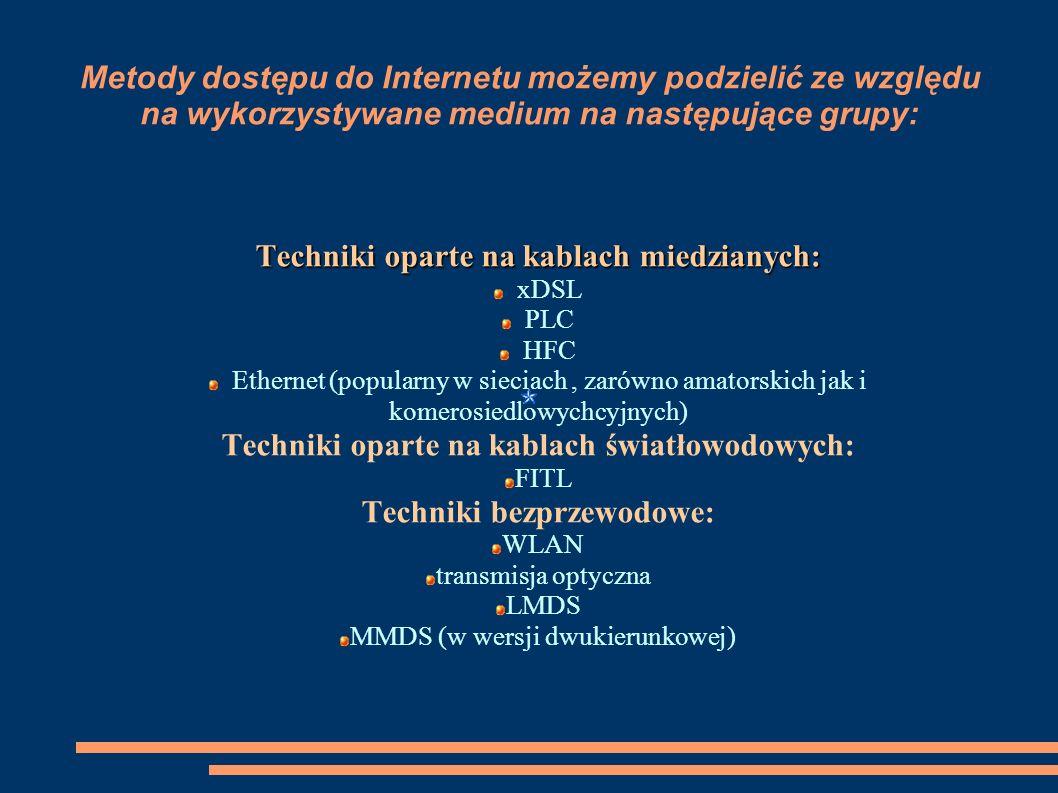 Techniki oparte na kablach miedzianych: