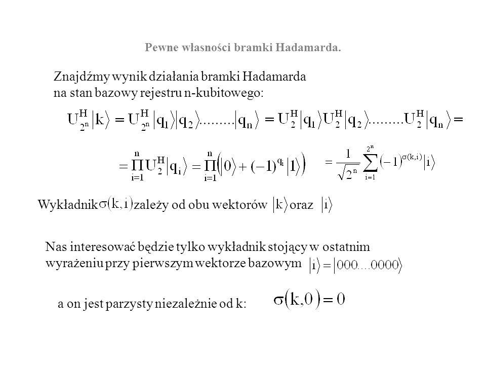 Pewne własności bramki Hadamarda.