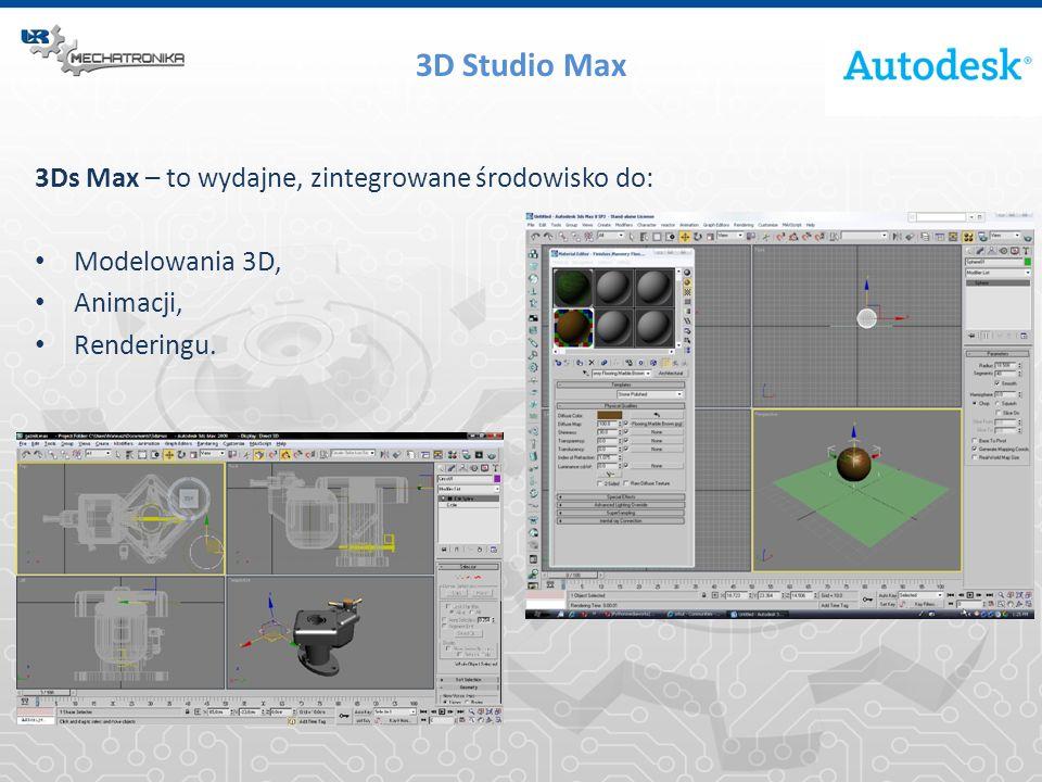 3D Studio Max 3Ds Max – to wydajne, zintegrowane środowisko do: