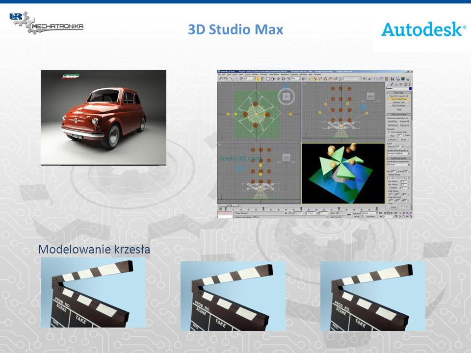 3D Studio Max Modelowanie krzesła
