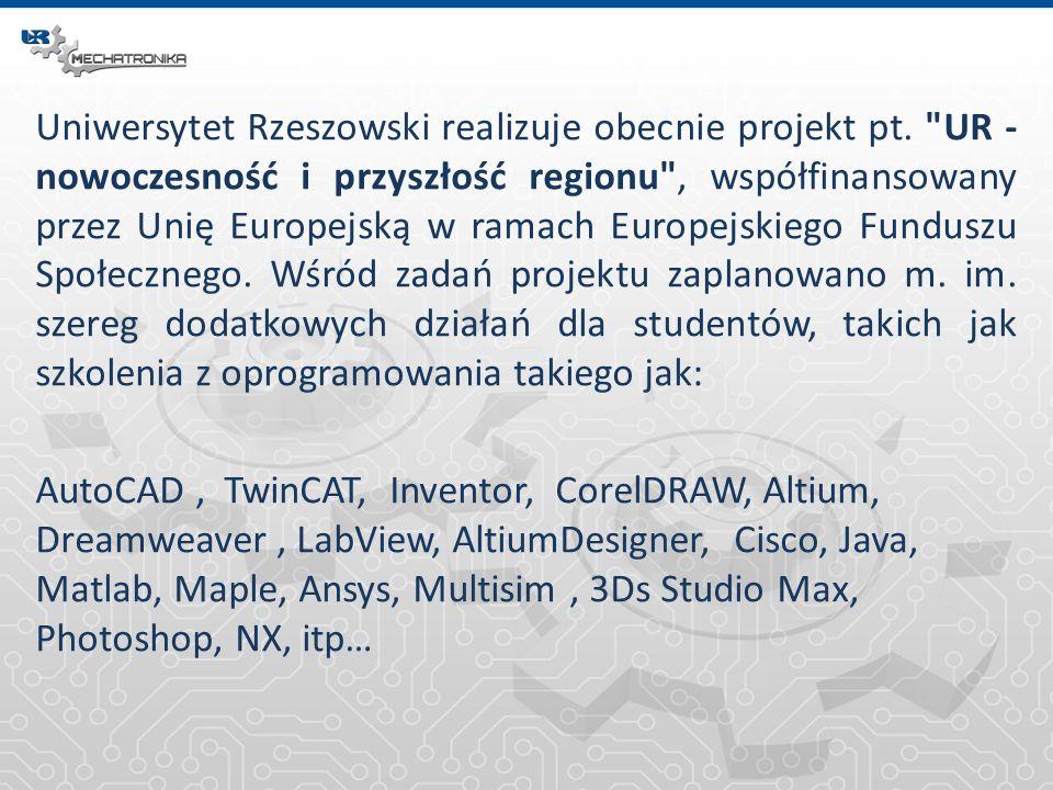 Uniwersytet Rzeszowski realizuje obecnie projekt pt