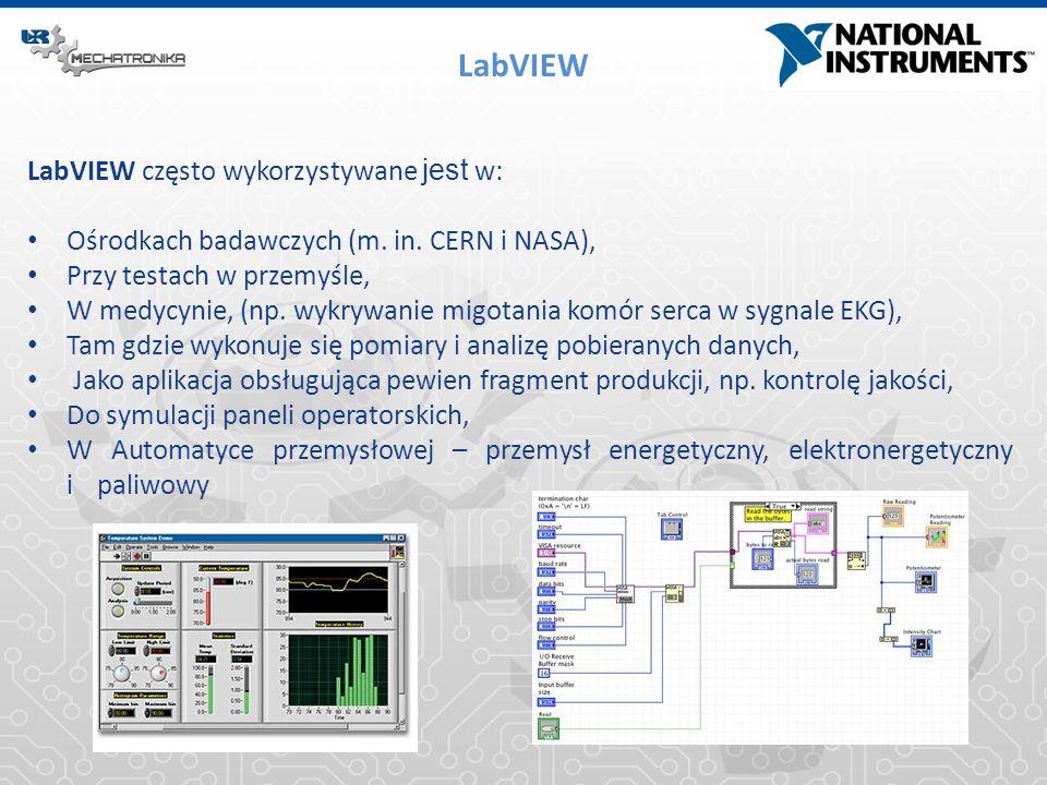 LabVIEW LabVIEW często wykorzystywane jest w: