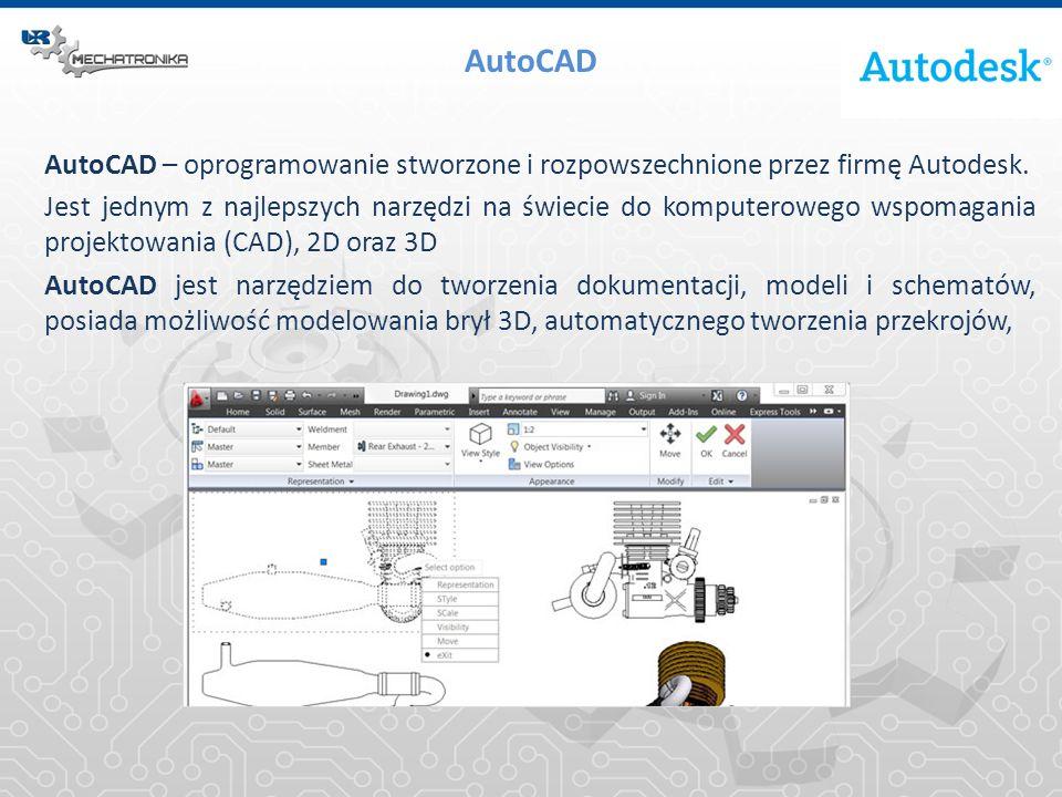 AutoCAD AutoCAD – oprogramowanie stworzone i rozpowszechnione przez firmę Autodesk.