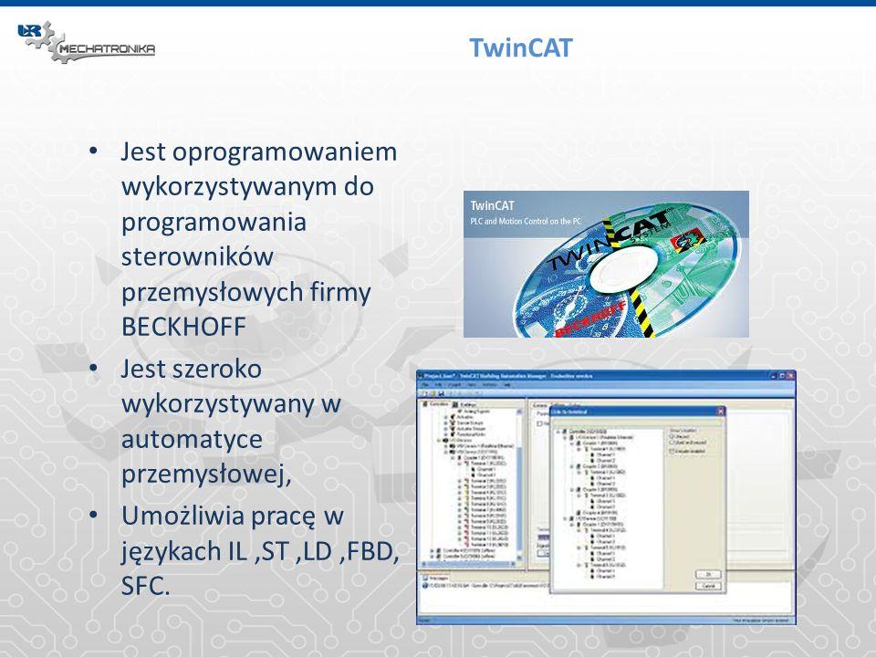 TwinCAT Jest oprogramowaniem wykorzystywanym do programowania sterowników przemysłowych firmy BECKHOFF.