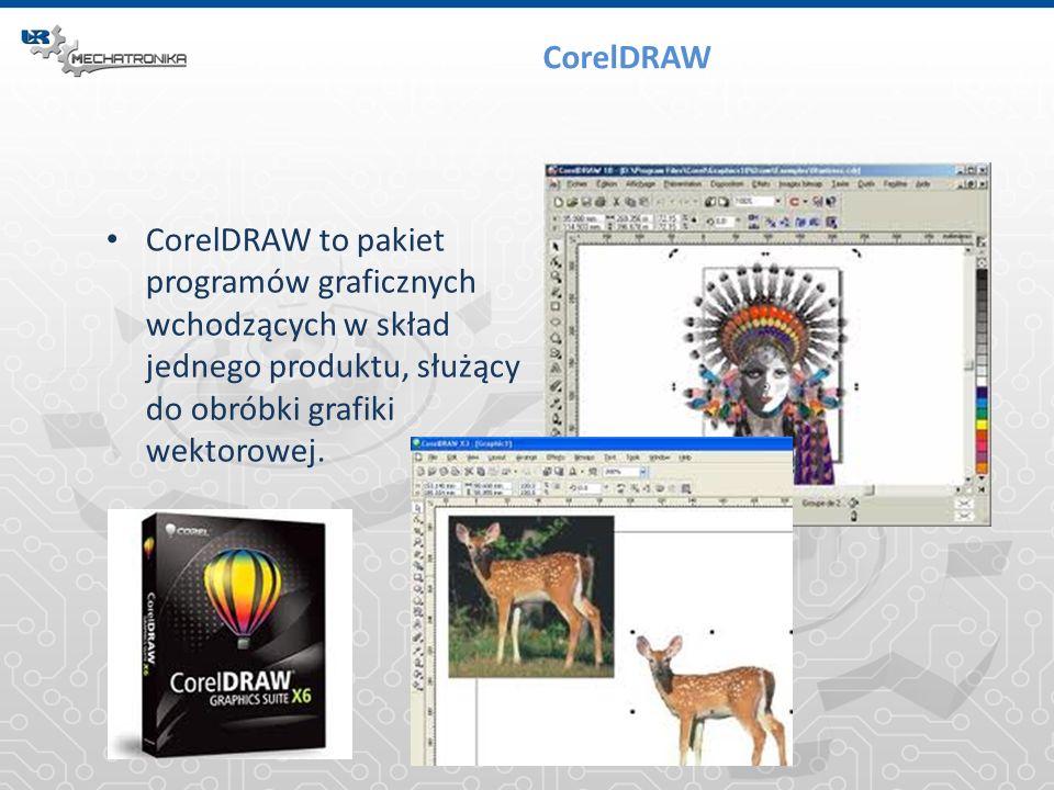 CorelDRAW CorelDRAW to pakiet programów graficznych wchodzących w skład jednego produktu, służący do obróbki grafiki wektorowej.