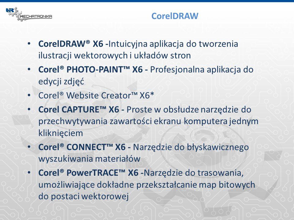 CorelDRAW CorelDRAW® X6 -Intuicyjna aplikacja do tworzenia ilustracji wektorowych i układów stron.
