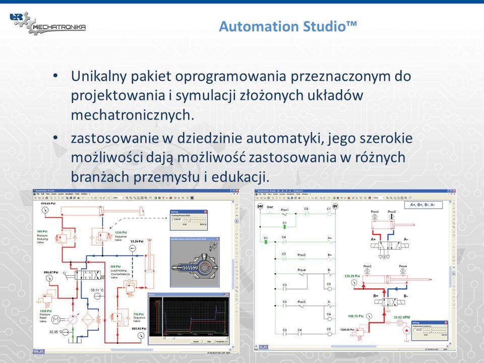 Automation Studio™ Unikalny pakiet oprogramowania przeznaczonym do projektowania i symulacji złożonych układów mechatronicznych.